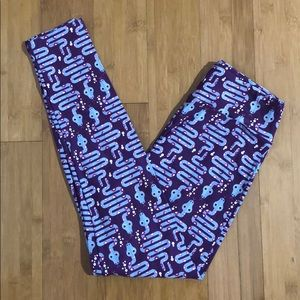 LuLaRoe snake print leggings purple OS